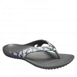 Dámske žabky (plážová obuv) CROCS-Kadee II Seasonal Flip W tropical floral/black
