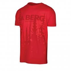 Pánske turistické tričko s krátkym rukáv BERG OUTDOOR-GAVIAO SM red