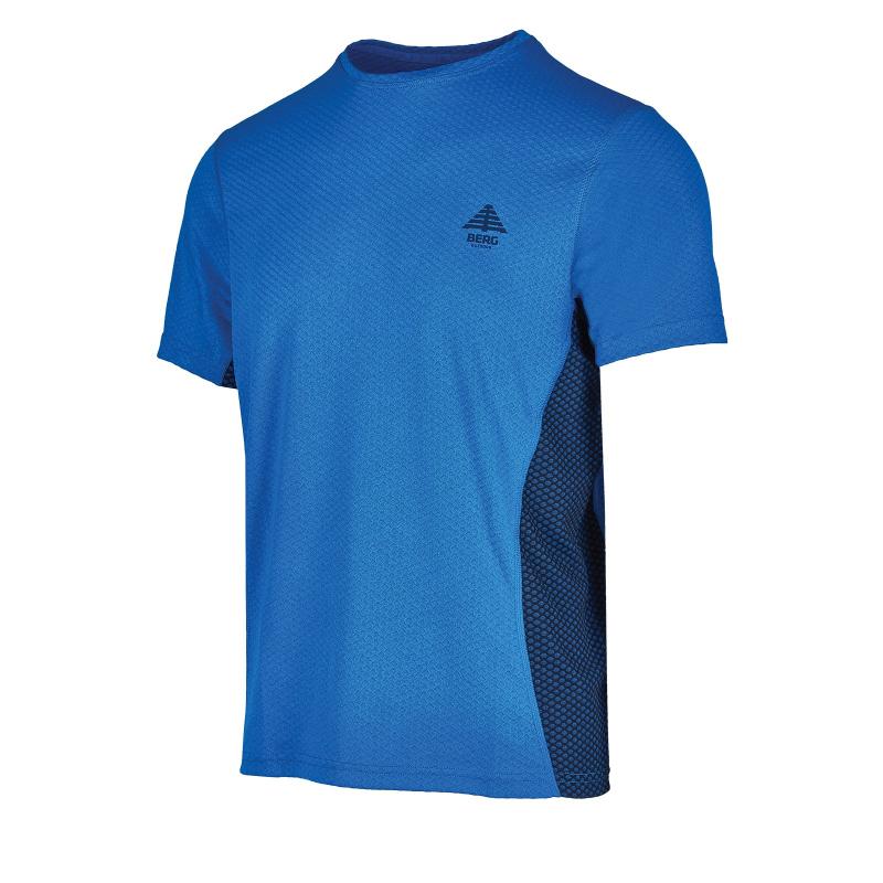 Pánske turistické tričko s krátkym rukáv BERG OUTDOOR-MOLEIR blue -