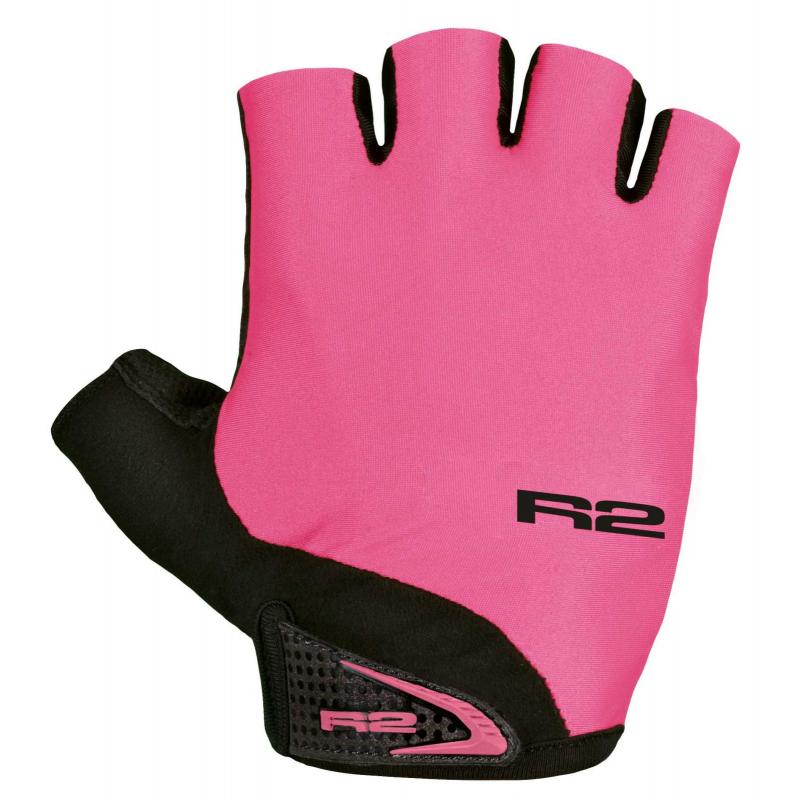 Cyklistické rukavice R2-Riley ružová/čierna -