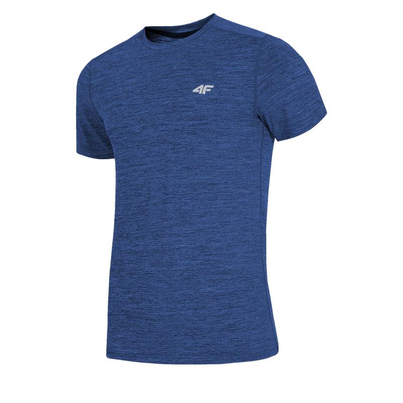 Pánske tréningové tričko s krátkym rukávom 4F-MENS FUNCTIONAL T-SHIRT TSMF002-30M-Blue dark -