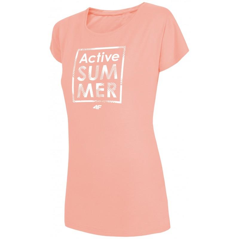 Dámske tričko s krátkym rukávom 4F-WOMENS T-SHIRT TSD011-64S-Orange -