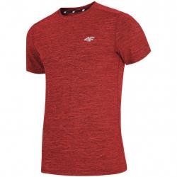 Pánske tréningové tričko s krátkym rukáv 4F-MENS FUNCTIONAL T-SHIRT TSMF002-62M-Red