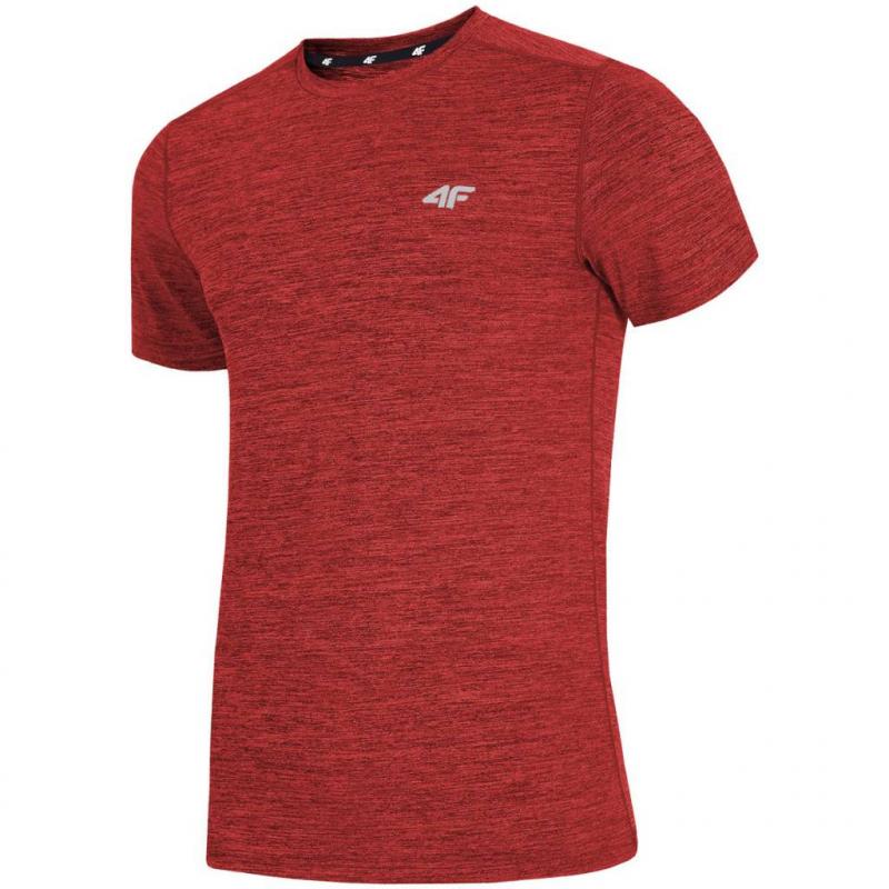 Pánske tréningové tričko s krátkym rukávom 4F-MENS FUNCTIONAL T-SHIRT TSMF002-62M-Red -