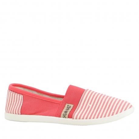 Dámske baleríny (rekreačná obuv) V+J-Ravola red/white