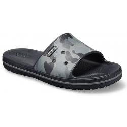 Obuv k bazénu (plážová obuv) CROCS-Crocband III Seasnl Graphc Sld Slate grey/black