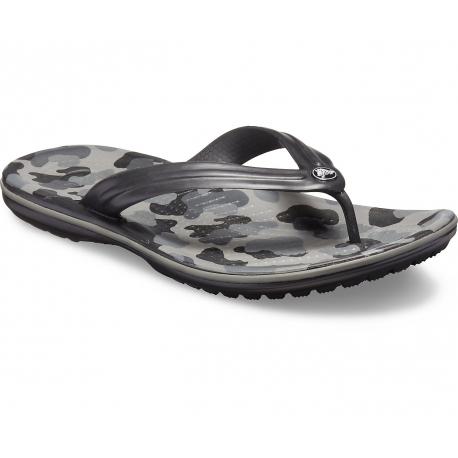 Žabky (plážová obuv) CROCS-Crocband Seasonal Graphic Flip Slate grey/black