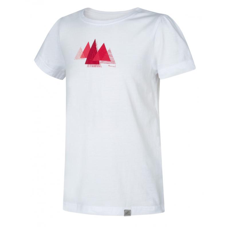 Dievčenské turistické tričko s krátkym rukávom HANNAH-PONTELA JR-bright white -