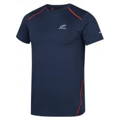 Pánske turistické tričko s krátkym rukáv HANNAH-PACABA-midnight navy/orange