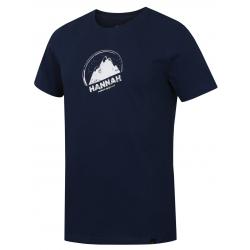 Pánske turistické tričko s krátkym rukáv HANNAH-BORDON-dark denim