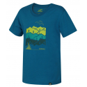 Chlapčenské turistické tričko s krátkym HANNAH-DARLEY JR-mosaic blue -