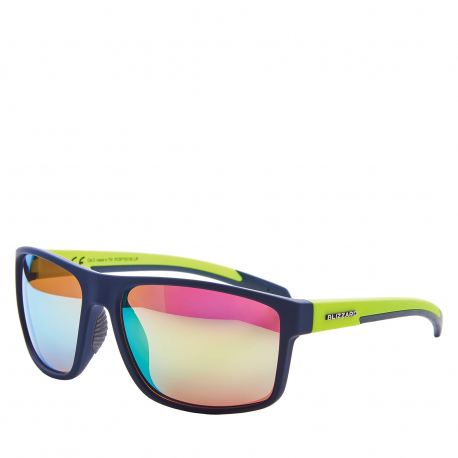 Športové okuliare BLIZZARD-Sun glasses PCSF703130, rubber dark blue , 66-17-140