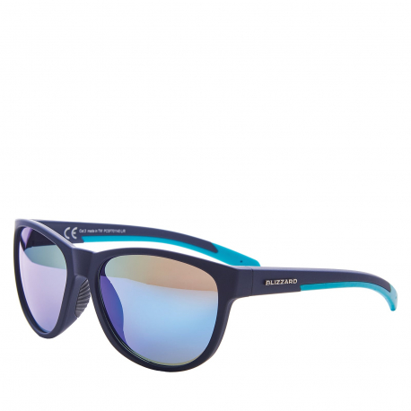 Športové okuliare BLIZZARD-Sun glasses PCSF701140, rubber dark blue , 64-16-133