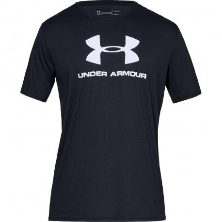 Pánske tréningové tričko s krátkym rukávom UNDER ARMOUR-SPORTSTYLE LOGO SS-BLK