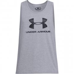 Pánske tréningové tričko bez rukávov UNDER ARMOUR-UA RHYTHM SS-GRY