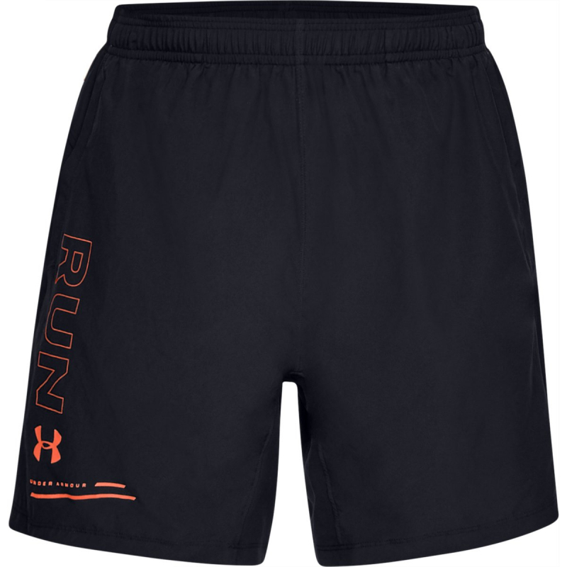 Pánske bežecké kraťasy UNDER ARMOUR-UA SPEED STRIDE GRAPHIC 7 WOVEN SHORT-001 Black -
