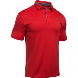 Pánske tréningové polo tričko s krátkym UNDER ARMOUR-Tech Polo-RED