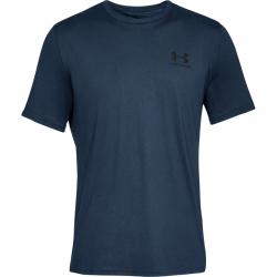 Pánske tréningové tričko s krátkym rukávom UNDER ARMOUR-SPORTSTYLE LEFT CHEST SS-NVY