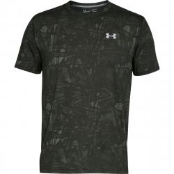 Pánske bežecké tričko s krátkym rukávom UNDER ARMOUR-UA STREAKER PRINTED SS CREW-GRN