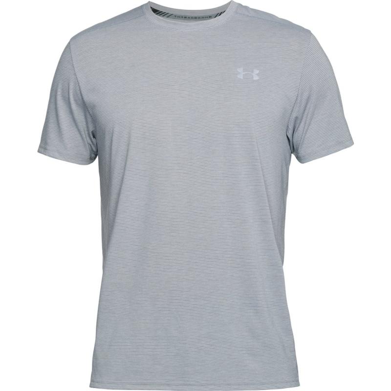 Pánske bežecké tričko s krátkym rukávom UNDER ARMOUR-Threadborne Streaker SS-GRY -