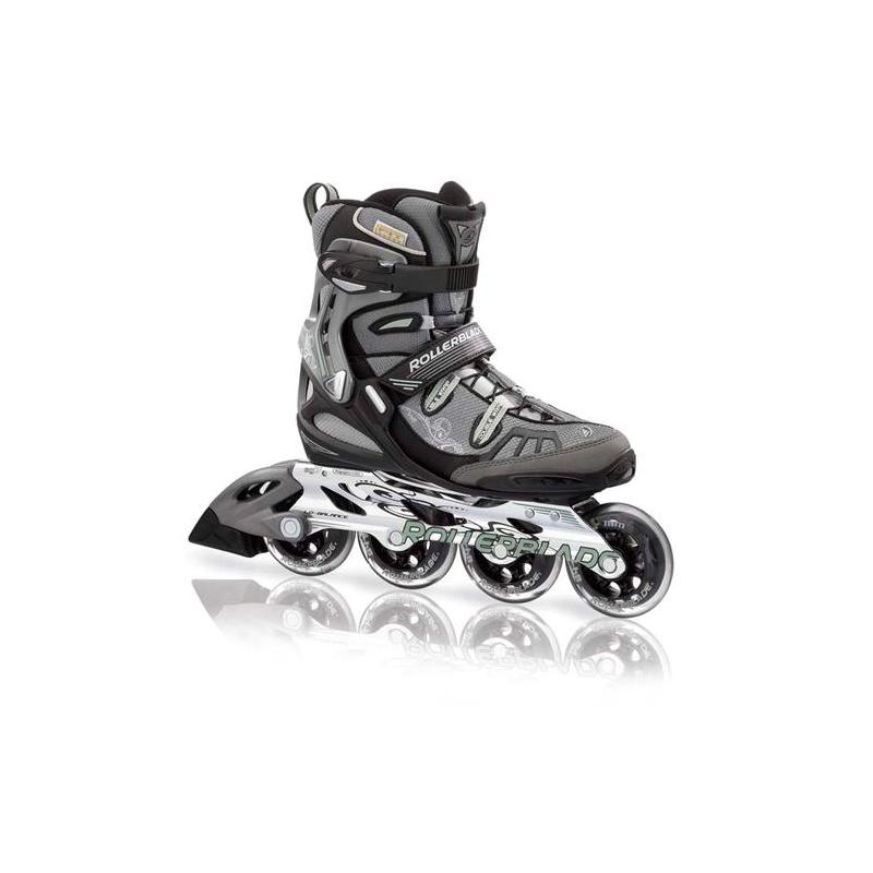 24de525175128 Dámske fitness kolieskové korčule ROLLERBLADE-SPARK 84 W BLACK/GREEN -