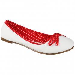 Dámske baleríny (rekreačná obuv) AUTHORITY-Balerinas White-Red