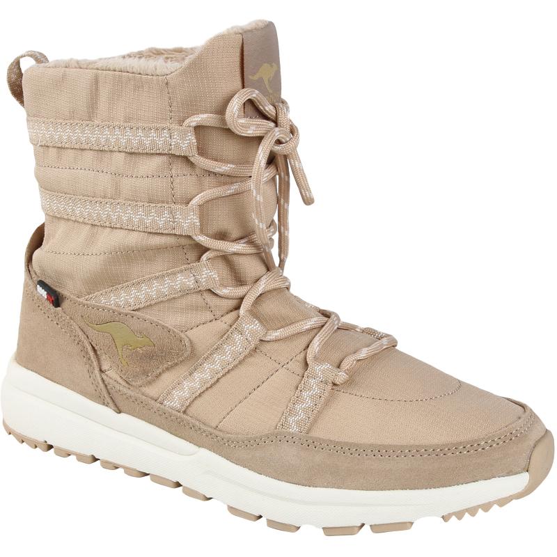 Dámská zimní obuv střední KangaROOS-TISK - sand 36 Hnědá