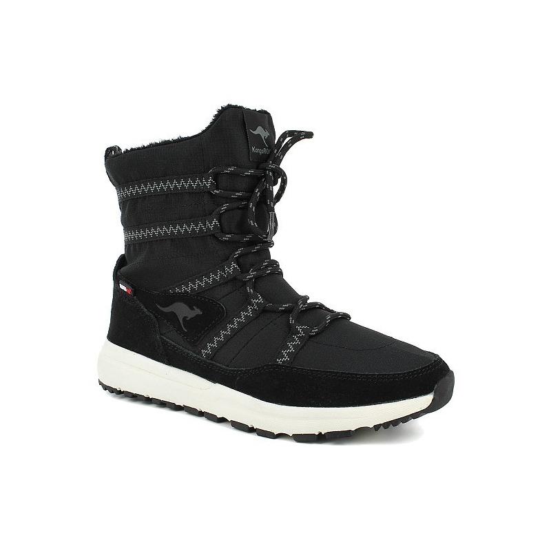 Dámska zimná obuv stredná KangaROOS-Tiska - black - Dámska vychádzková obuv značky KangaROOS, ktorú oceníte najmä počas chladnejších dní.