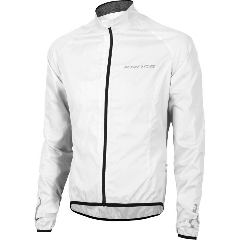 Cyklistická bunda KROSS-Waterproof jacket white - Cyklistická bunda značky Kross, ktorá je vodeodolná.