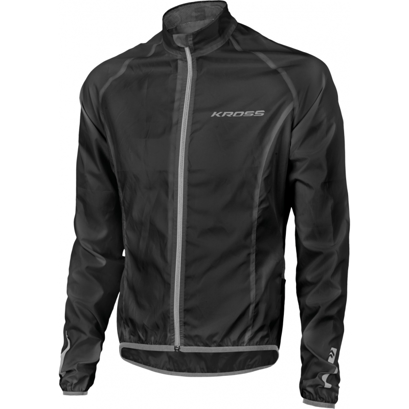 Cyklistická bunda KROSS-WATERPROOF JACKET black - Cyklistická bunda značky Kross.