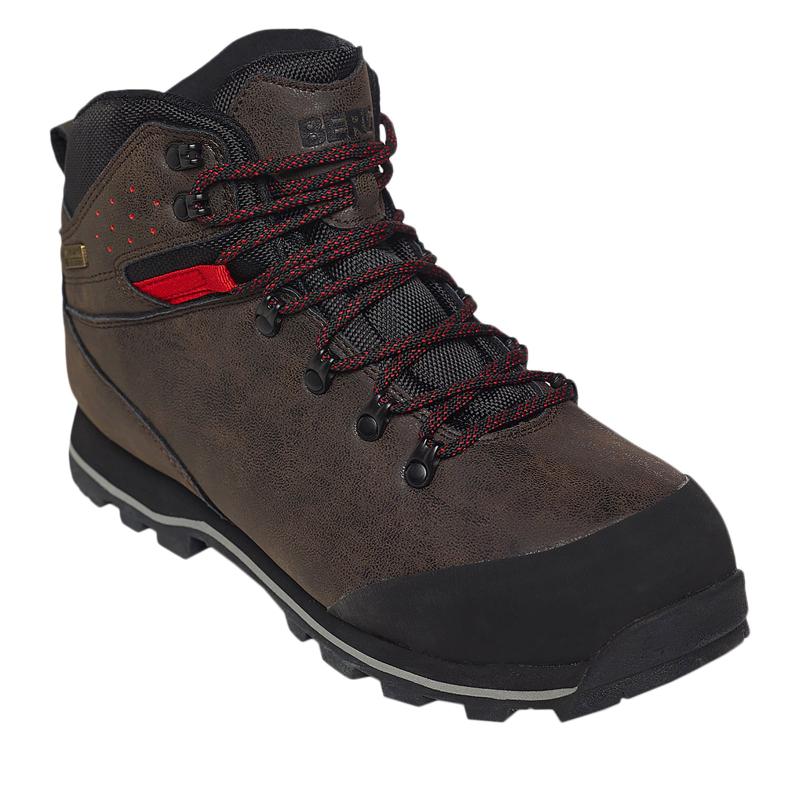 Pánska turistická obuv vysoká BERG OUTDOOR-SUN BEAR HIGH RISK RED -