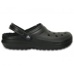 Kroksy zateplené (rekreačná obuv) CROCS-Classic Lined Clog - Black/Black