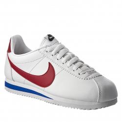 Vychádzková obuv NIKE-Nike Classic Cortez Leather WHITE/VARSITY RED-VARSITY R