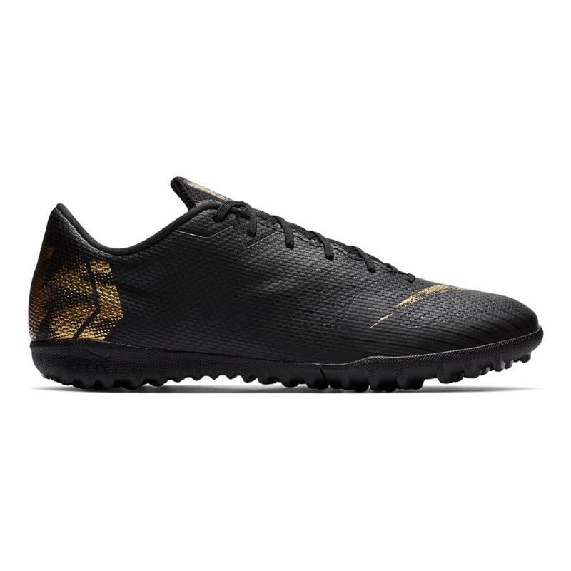Pánske futbalové kopačky turfy NIKE-Mercurial Vapor X 12 Academy M TF black/vivid gold -