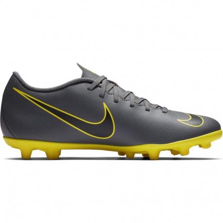 Pánske futbalové kopačky outdoorové NIKE-Mercurial Vapor 12 Club M FG dark grey/opti yellow/black