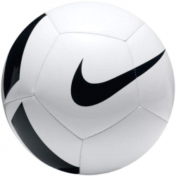 Futbalová lopta NIKE-pitch foot - WHITE/(BLACK)