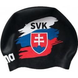 Plavecká čiapka ARENA-Moulded cap Slovak flag černá