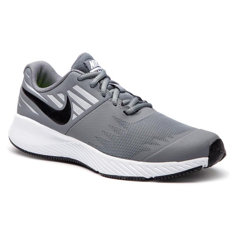 Juniorská tréningová obuv NIKE-Star Runner (GS) cool grey/black-volt-wolf grey -