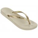 Dámske žabky (plážová obuv) IPANEMA-Anatomica Tan Fem beige/gold -