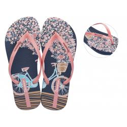 Dámske žabky (plážová obuv) IPANEMA-Mari peach/dark blue