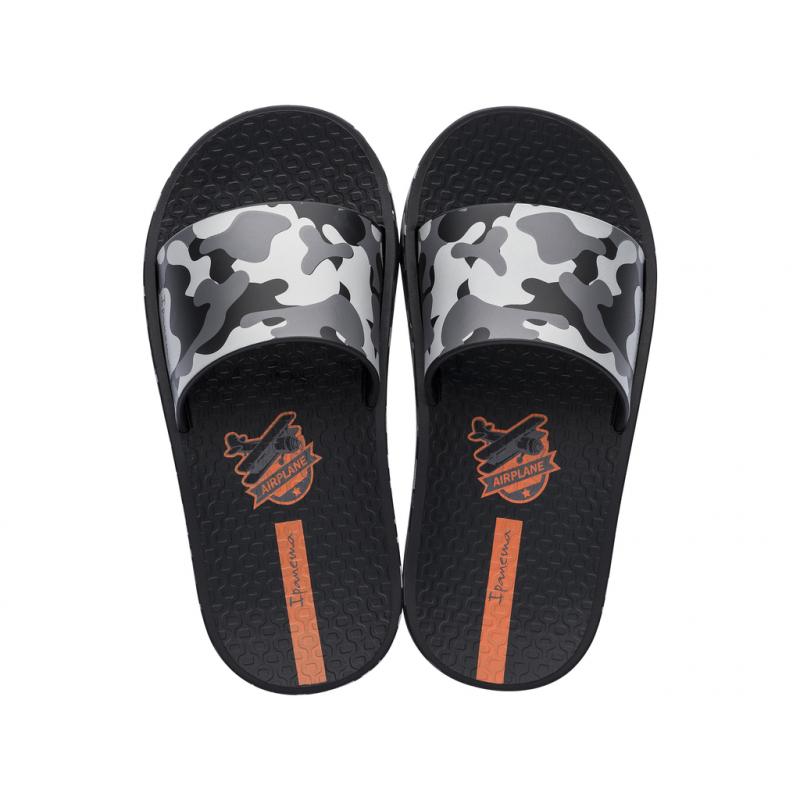 Detská obuv k bazénu (plážová obuv) IPANEMA-Urban Slide K black -