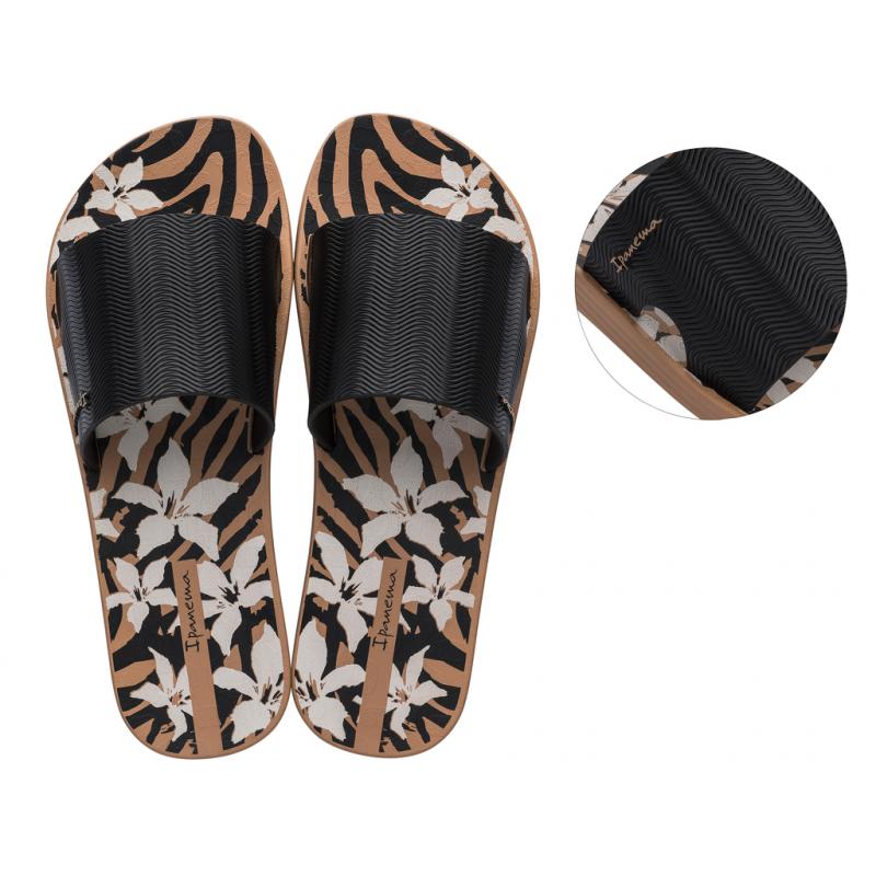 Dámska obuv k bazénu IPANEMA-Way Print Fem black/gold -