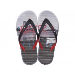 Pánske žabky (plážová obuv) RIDER-R1 Energy red/black