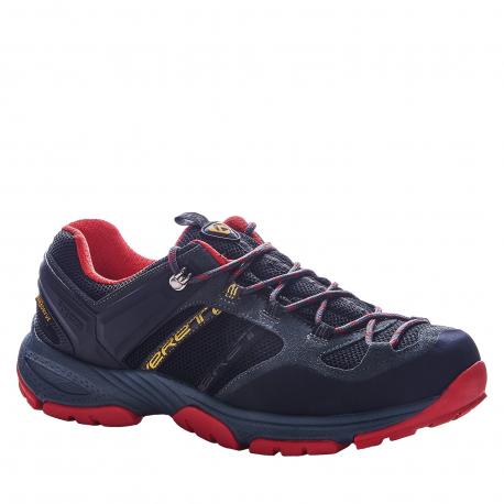 Pánska turistická obuv nízka EVERETT-Sivalore black/grey/red
