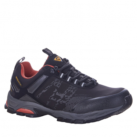 Dámska turistická obuv nízka EVERETT-Melize black/grey/pink