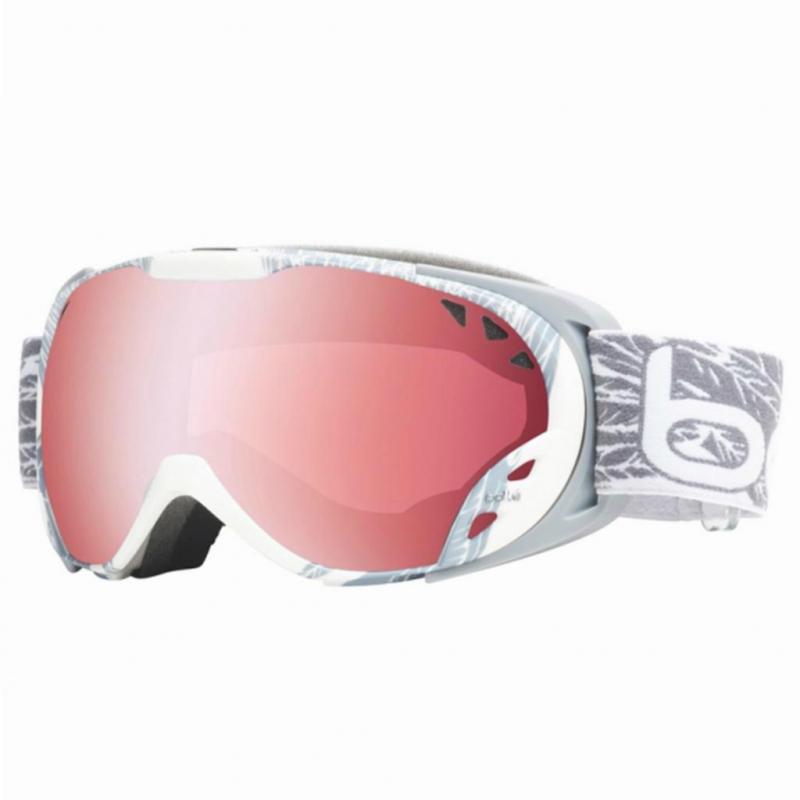 602b9c758 Lyžiarske okuliare BOLLE-DUCHESS White a Silver Wings Vermillon Gun -