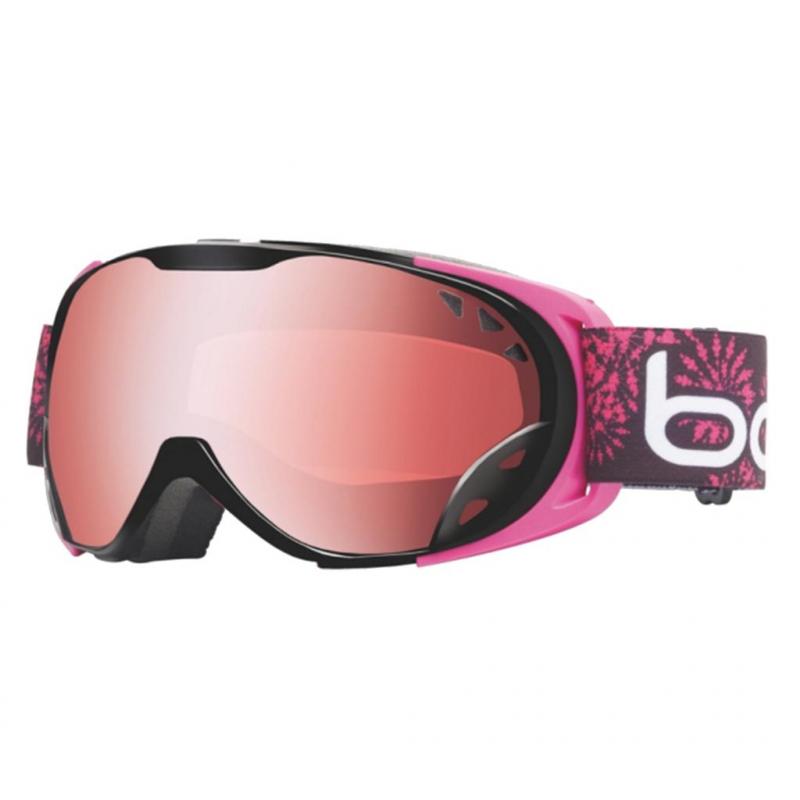 f6b318502 Lyžiarske okuliare BOLLE-DUCHESS Black a Pink Flower Vermillon Gun -