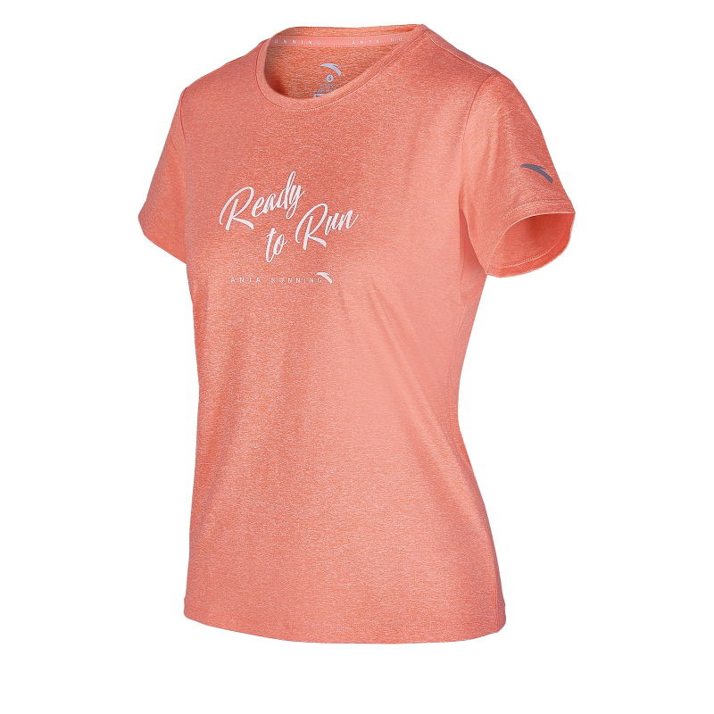 Dámske tréningové tričko s krátkym rukávom ANTA-SS Tee-WOMEN-86925148-2-Q219-Pink Red -