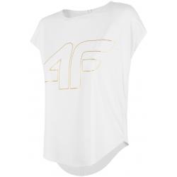 Dámske tréningové tričko s krátkym rukáv 4F-WOMENS FUNCTIONAL T-SHIRT TSDF005-10S WHITE