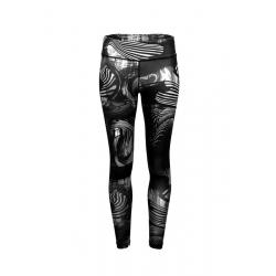 Dámske funkčné legíny FUNDANGO-Leggings print-black pattern